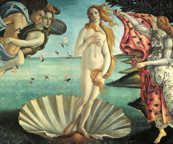 The Birth of Venus (Botticelli) in the Uffizi Cropped