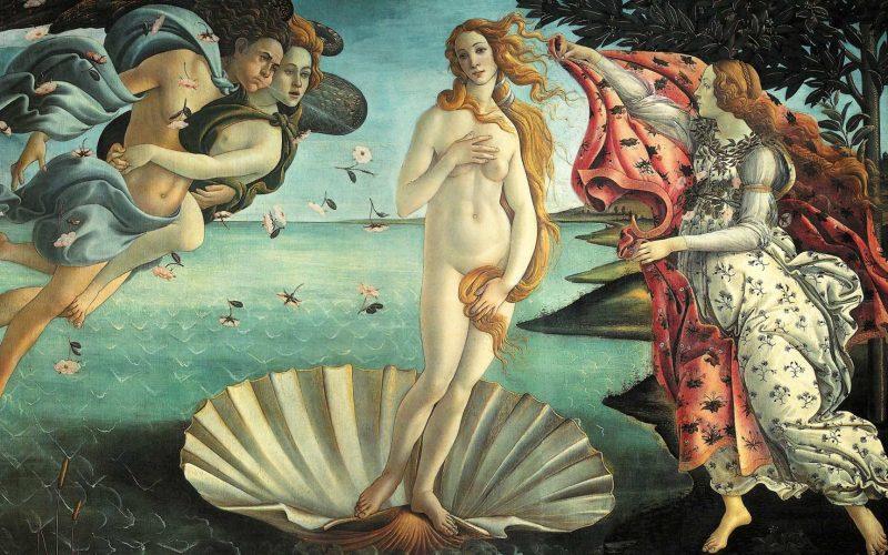 The Birth of Venus (Botticelli) in the Uffizi Cropped