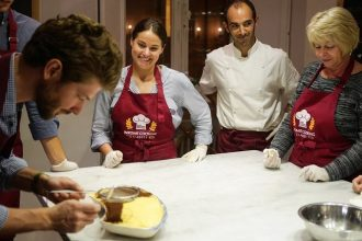 Guests of our pasta and tiramisù cooking class