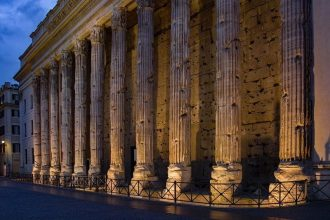 The Hadrianum as seen on our Rome by night tour