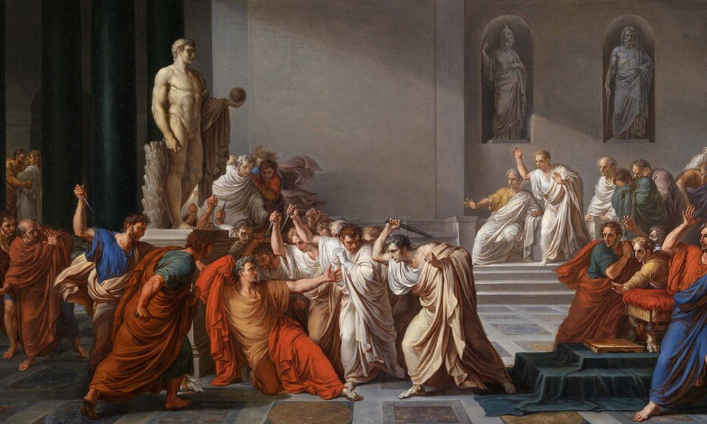 Vincenzo Camuccini, the Assassination of Julius Caesar (1806)
