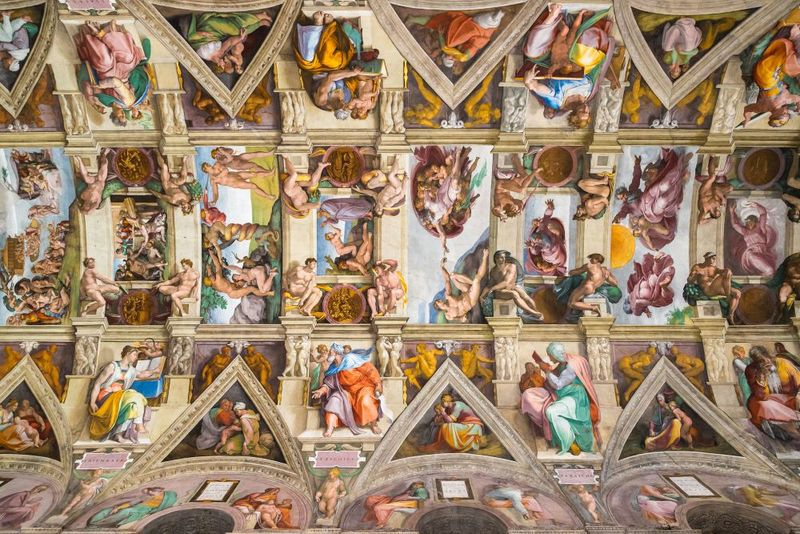 Ceiling frescoes from the Sistine Chapel
