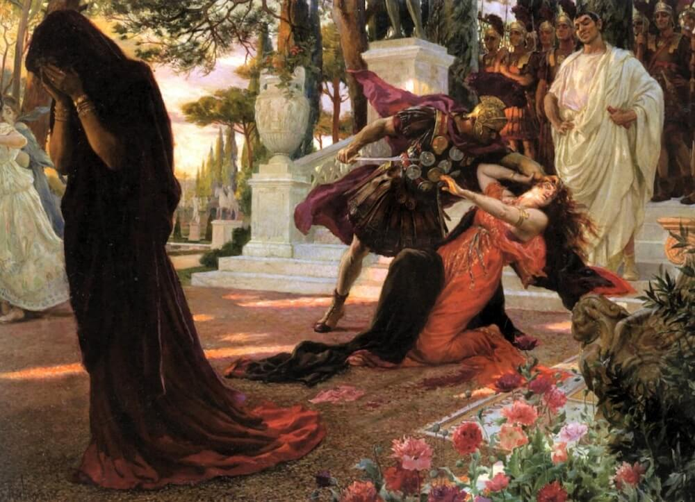 Georges Antoine Rochegrosse, The Death of Messalina (1916)