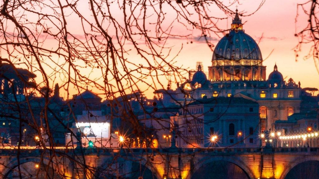 The Vatican as seen on our Rome by night tour