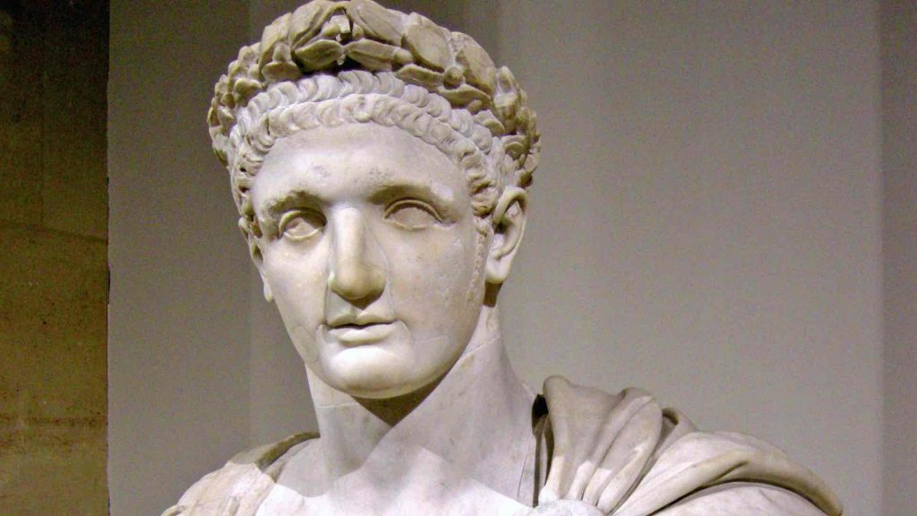 Bust of Domitian from the Louvre, Paris.
