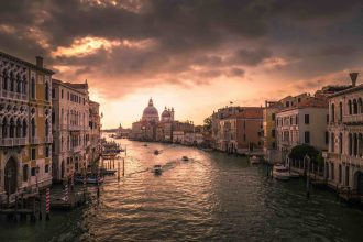 Venice Grand Canal Sunset karsten-wurth