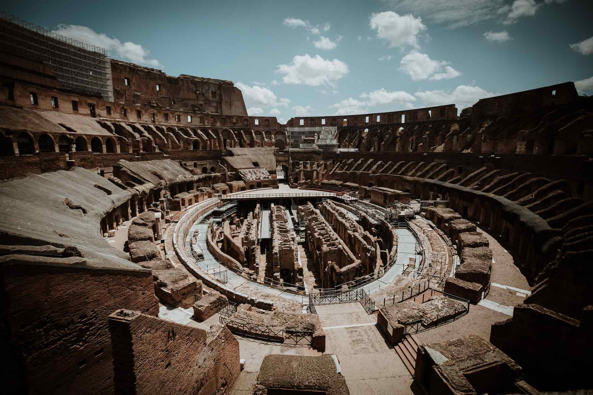 Shot of the Colosseum arena taken from the upper levels