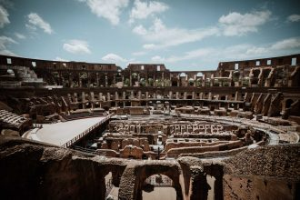 Picture of the Arena Floor of the Roman Colosseum